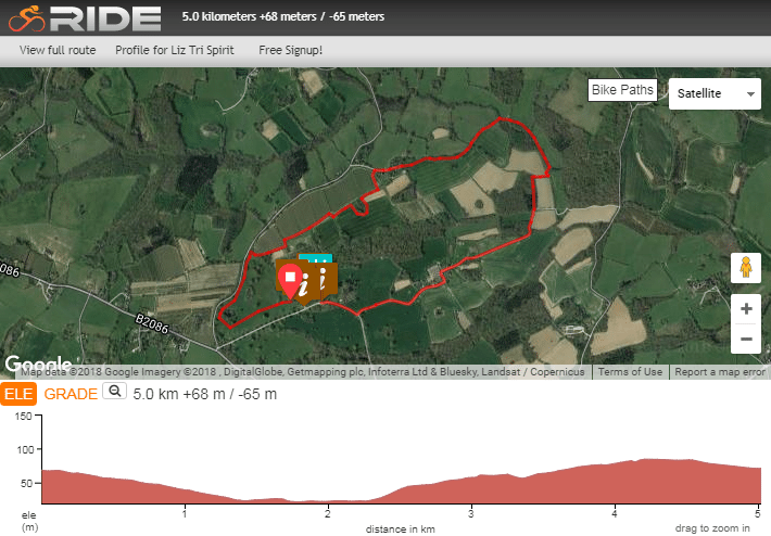 Hole Park Duathlon Lets Do This - Map run distance free
