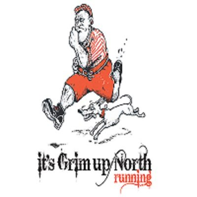 It's Grim up North Running's logo